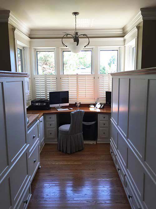 Interior walls create private office space