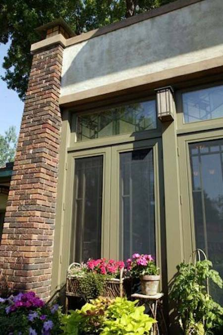 Lake of the Isles, Minneapolis prairie-style home painted by William Nunn Painting