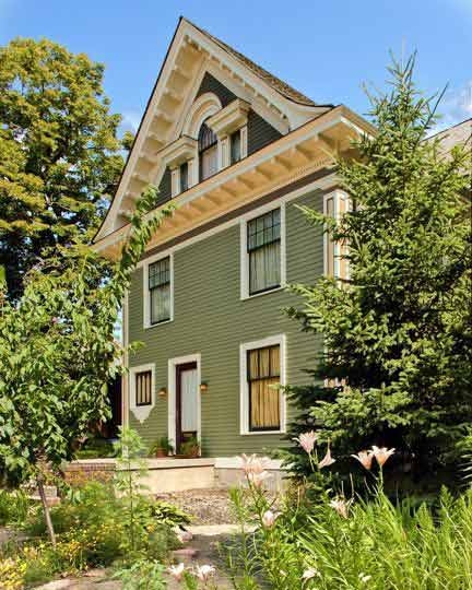 Painted Victorian Homes by William Nunn Painting include restored millwork.