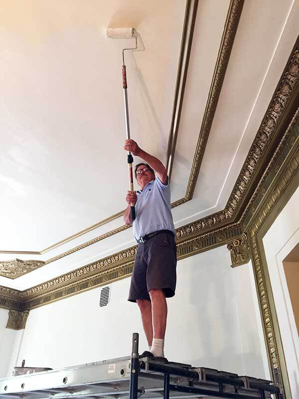 We ensure a perfectly smooth ceiling paint job and increases paint bonding.