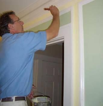 Willian Nunn painting Minnetonka home interior