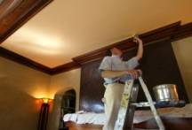 Prepping the surface before painting the ceiling