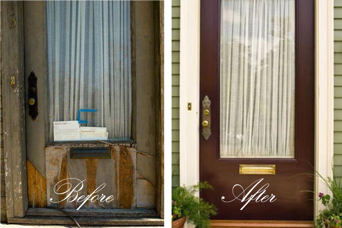 Victorian Front Door Restoration and Painting Project